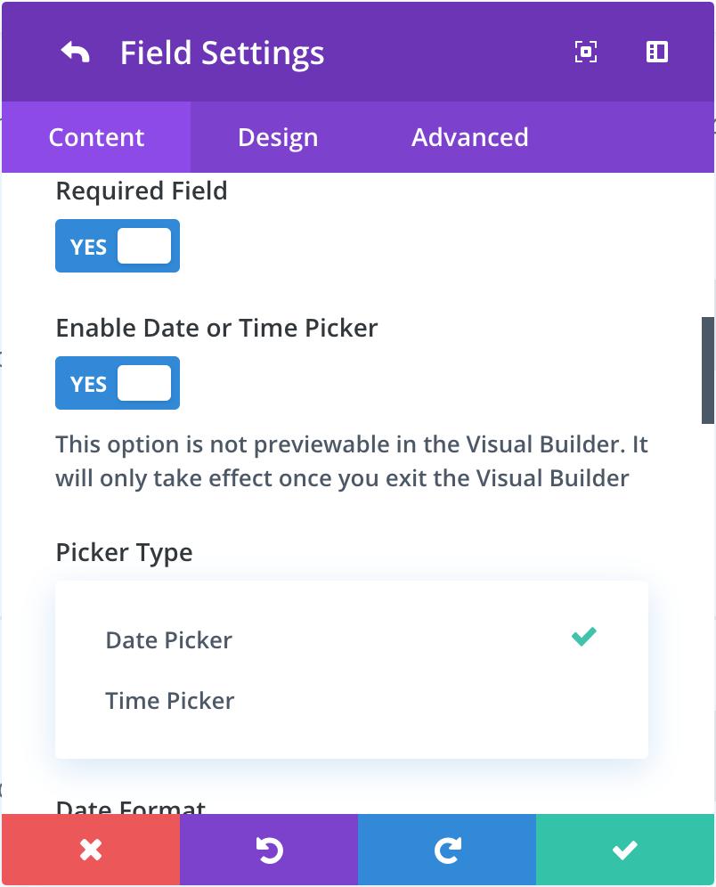 datetimepicker   A DateTime Picker for the Divi Wordpress theme